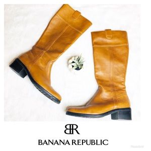 Banana Republic | Tall Leather Riding Boots